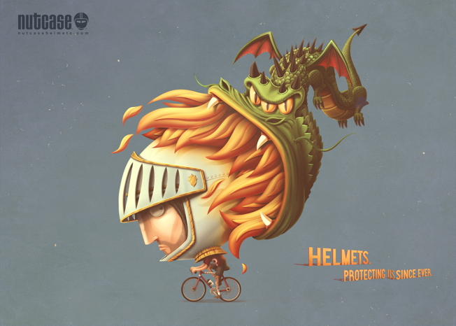nutcase helmet ads dragon