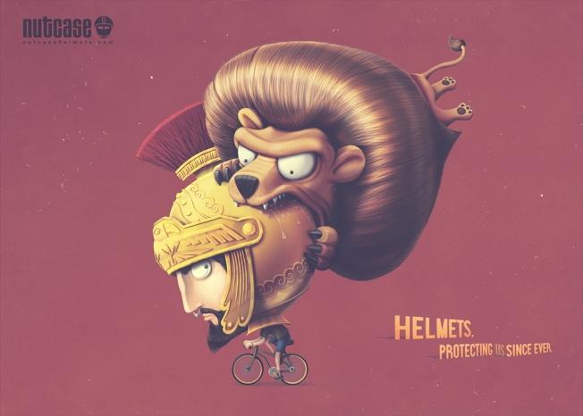 nutcase helmet ads lion