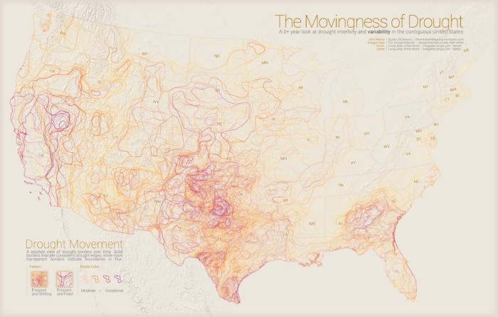 drought/water shortage map