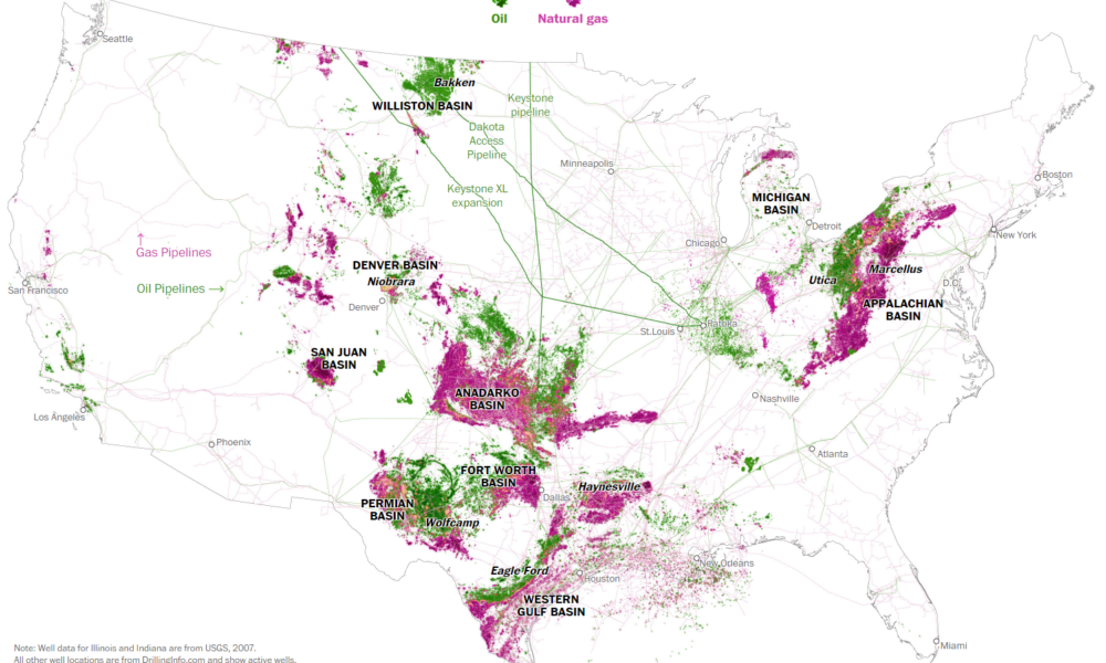 Oil and Gas Wells in the U.S.