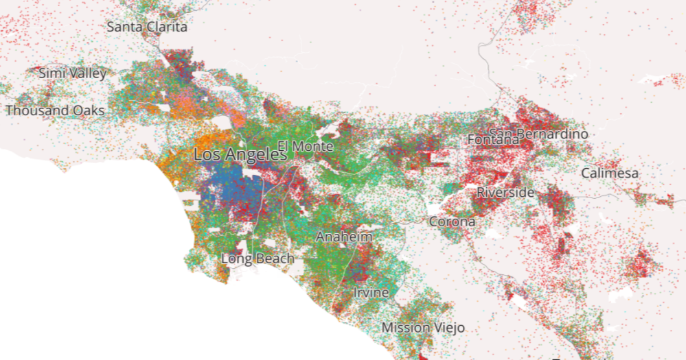 Mapping Immigrant America: Los Angeles