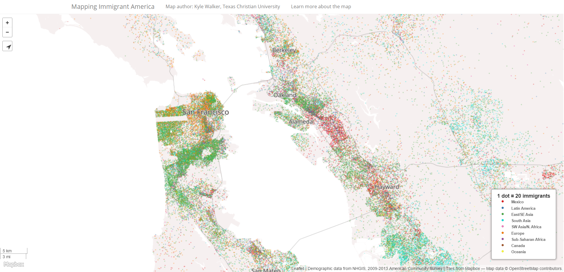 Mapping Immigrant America: San Francisco