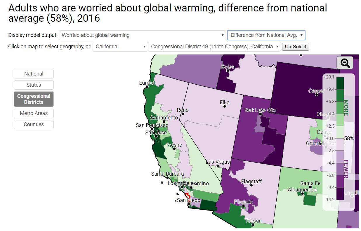 Climate Change: Congressional Districts California