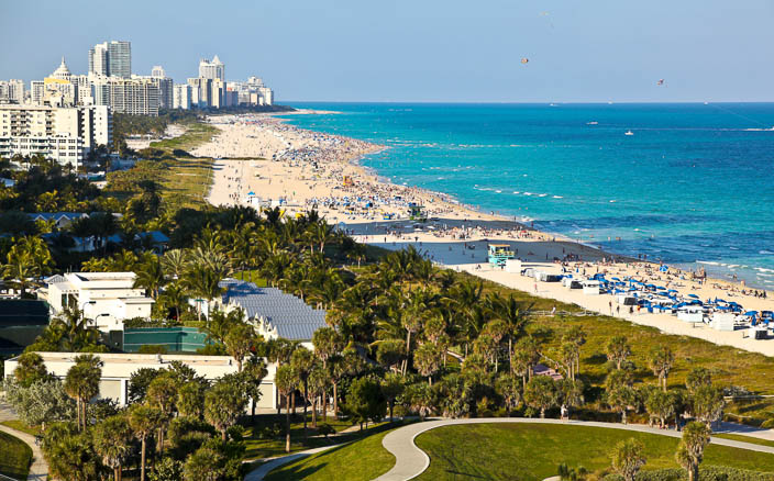 Miami Beach in Miami-Dade County FL