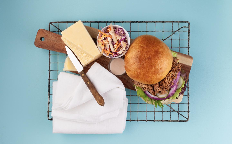 Smokey Bbq Beef Sandwich with Coleslaw