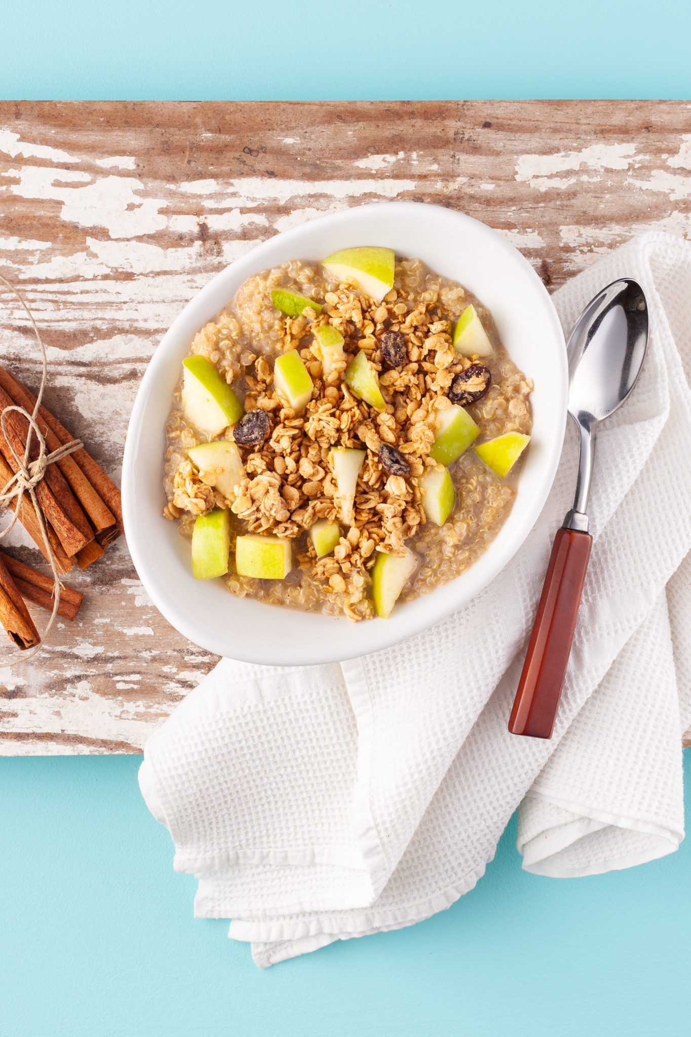 Apple Crumble Quinoa Porridge