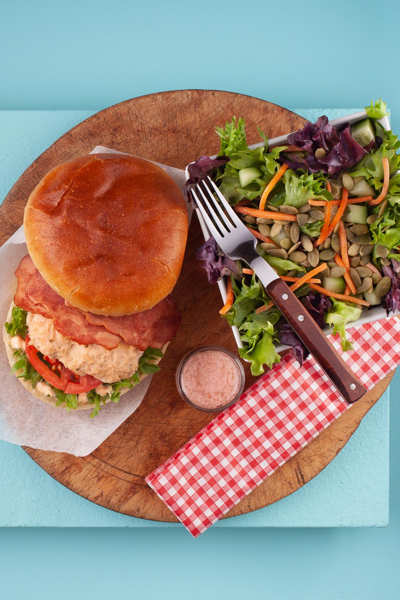 Chicken Bacon Ranch Burger