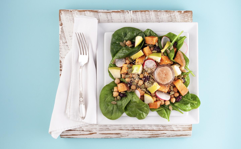 Chickpea and Apple Salad with Apple Cider Vinaigrette