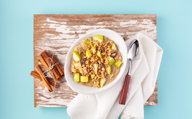 Apple Crumble Quinoa Porridge with Granola