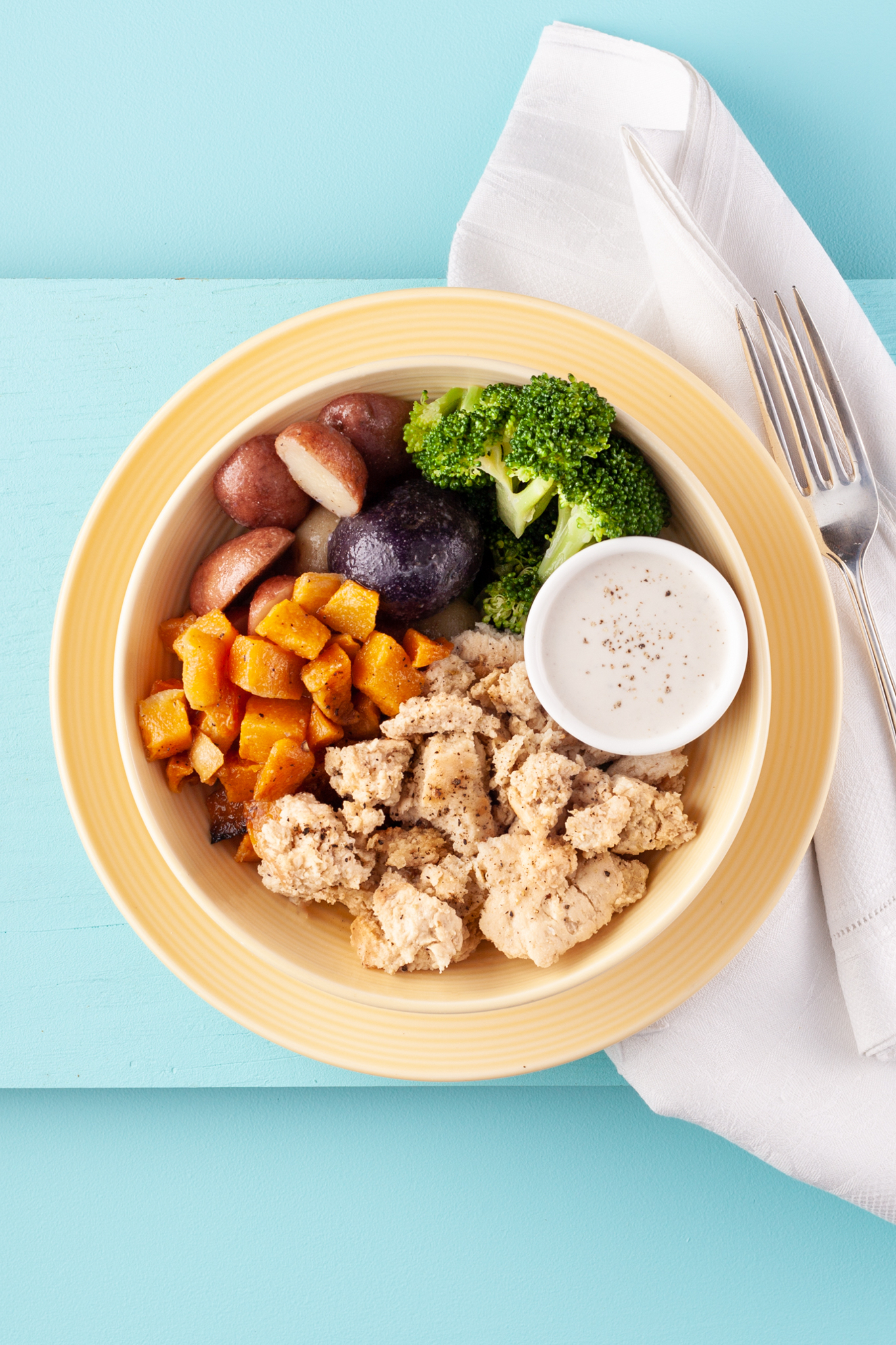 Butternut Squash and Chicken Bowl
