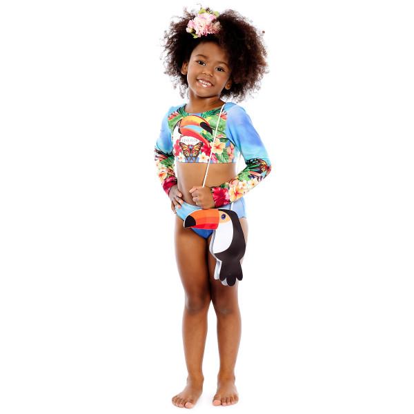 biquini manga longa infantil