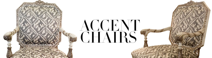 Create a focal point with accent chairs from the top names in designer furniture.