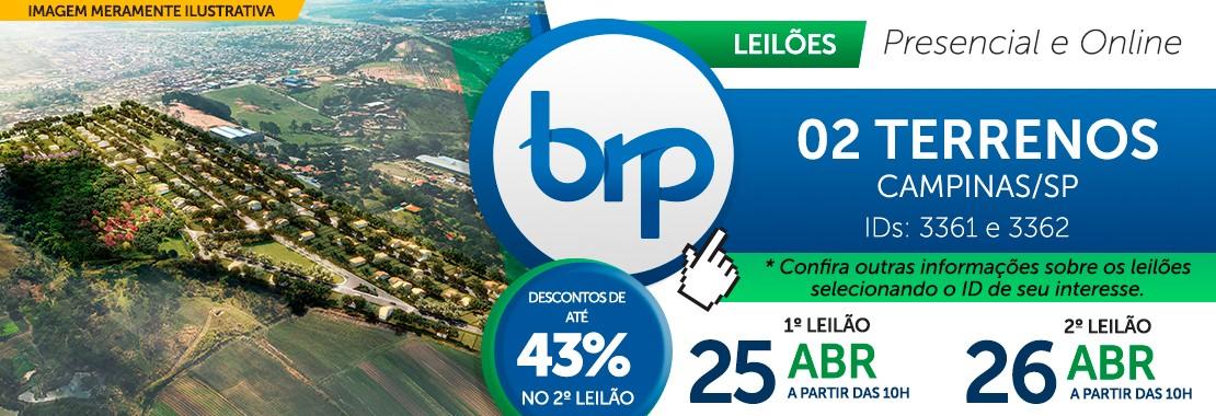 Leilão BRP - Terrenos em Campinas/SP