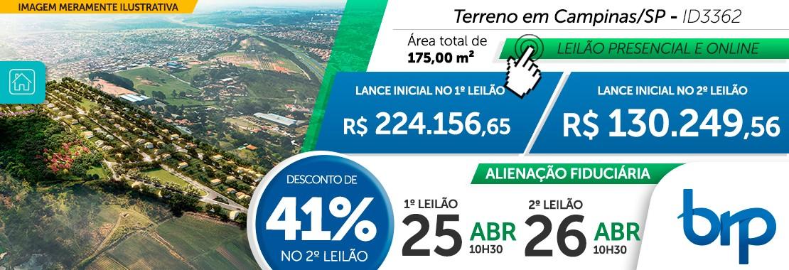 Leilão BRP - Terreno em Campinas/SP