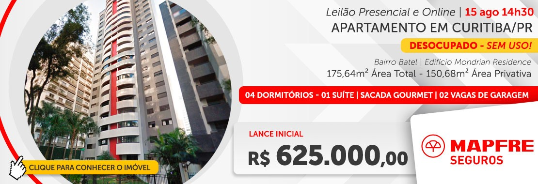 Leilão Apto Curitiba/PR - Mafre Seguros