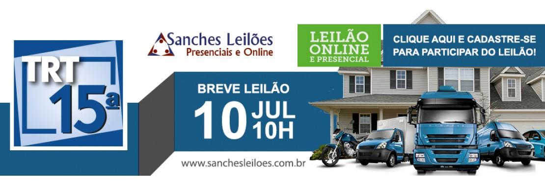 Leilão do TRT15 - Sanches Leilões