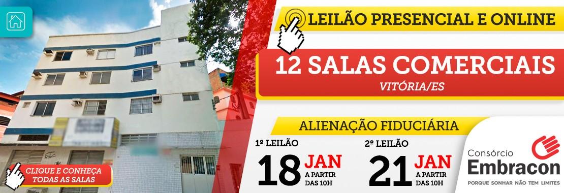 Leilão Embracon - 12 Salas Comerciais