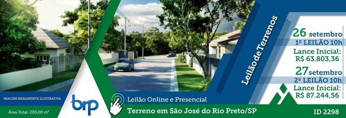 Leilão Terreno em S.J. do Rio Preto/SP