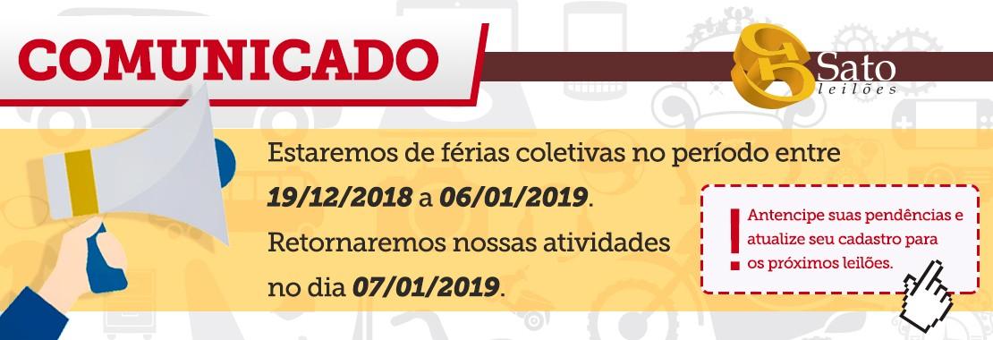 COMUNICADO Sato Leilões