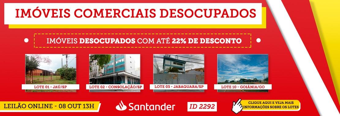 Leilão Santander Imóveis Comerciais Desocupado
