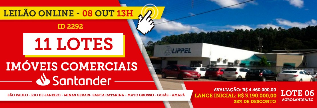Leilão Santander Imóveis Comerciais
