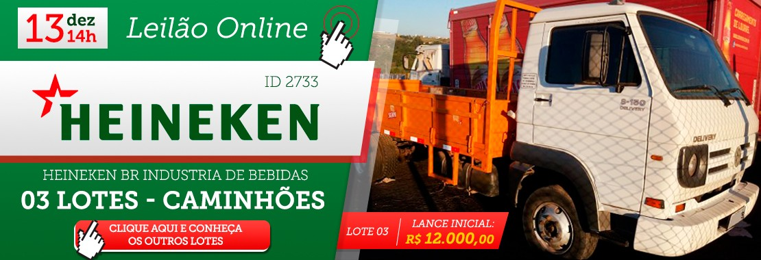 Leilão Caminhões Heineken