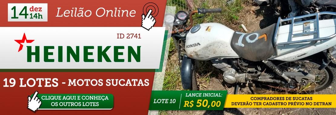 Leilão Heineken - Motos Sucatas