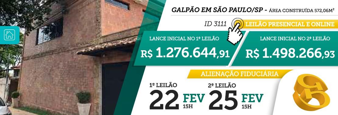 Leilão Galpão São Paulo