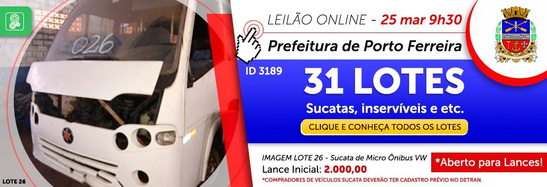 Leilão da Prefeitura de Porto Ferreira