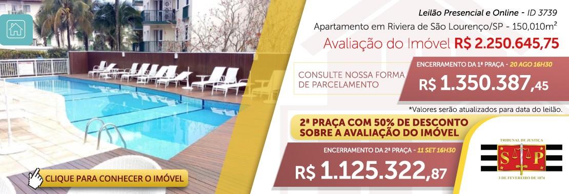 Leilão de Apartamento na Riviera de São Lourenço