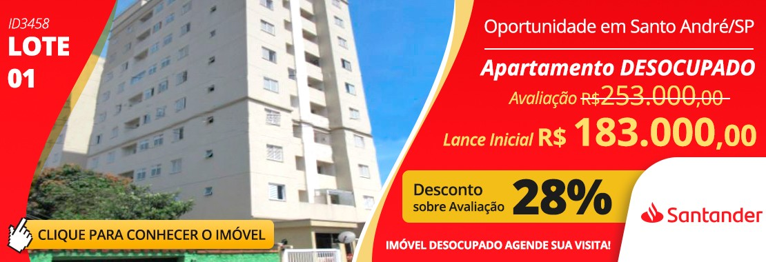 Leilão Santander - LOTE 01 DESOCUPADO