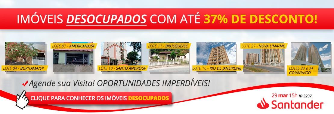 Leilão Santander - DESOCUPADOS