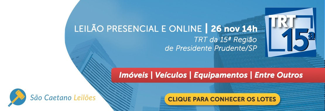 Leilão do TRT15 de Pres. Prudente