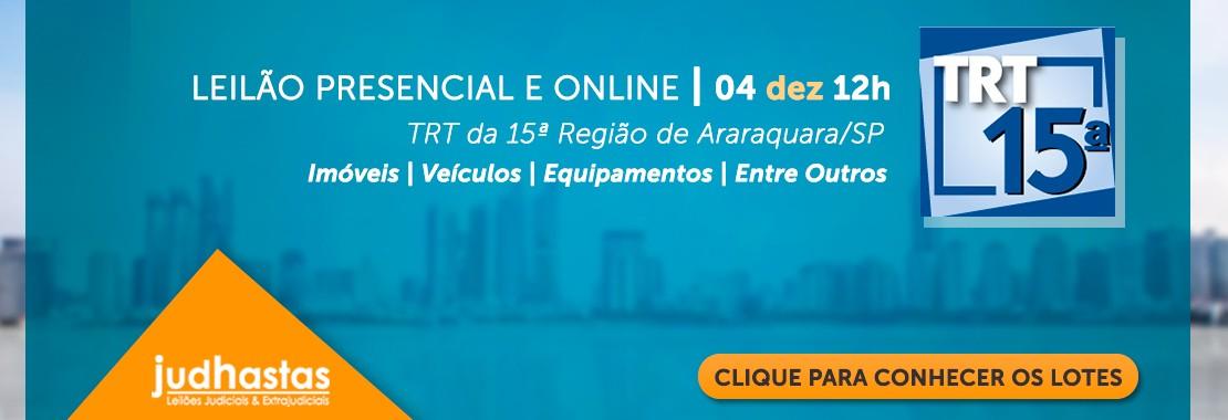 Leilão do TRT15 de Araraquara