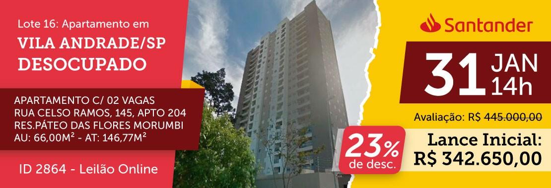 Lote 16 - Leilão Banco Santander