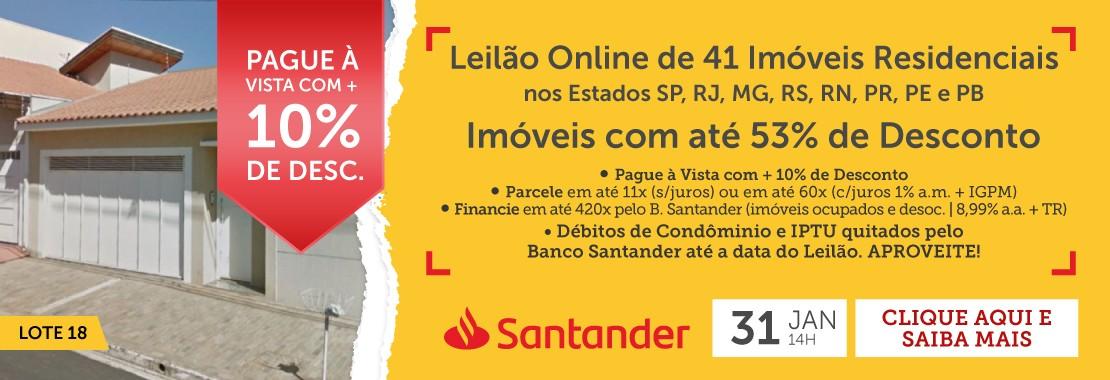 Leilão de Imóveis do Banco Santander