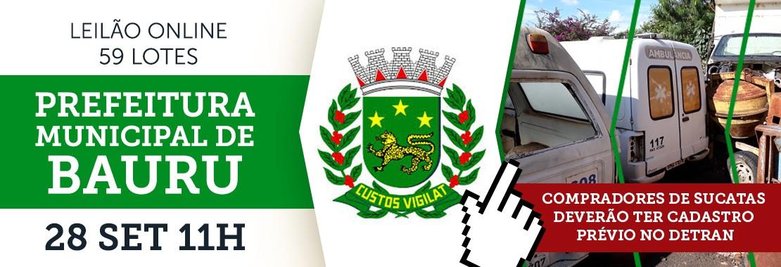 Leilão da Prefeitura de Bauru