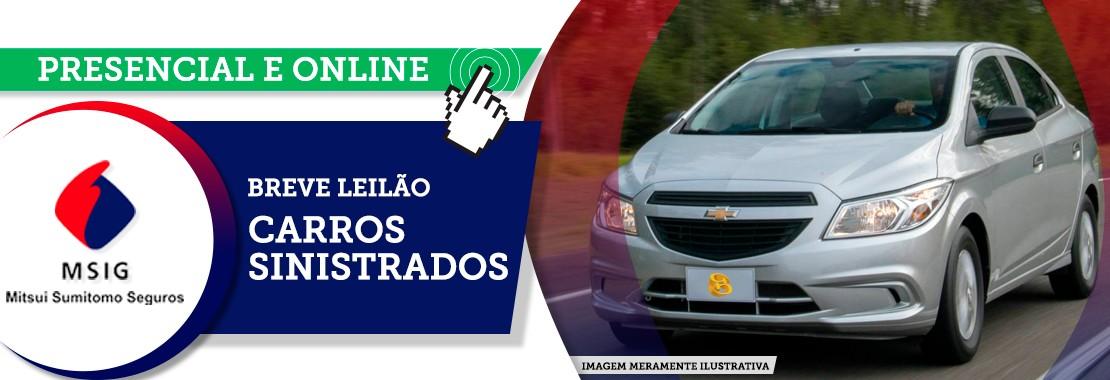 Leilão Carros Sinistrados