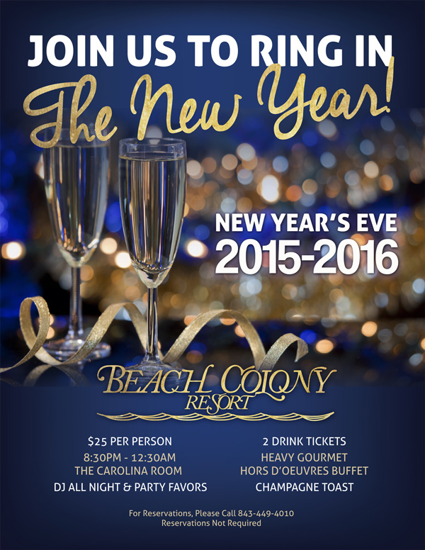 Beach Colony Resort's Myrtle Beach New Year's Eve Party
