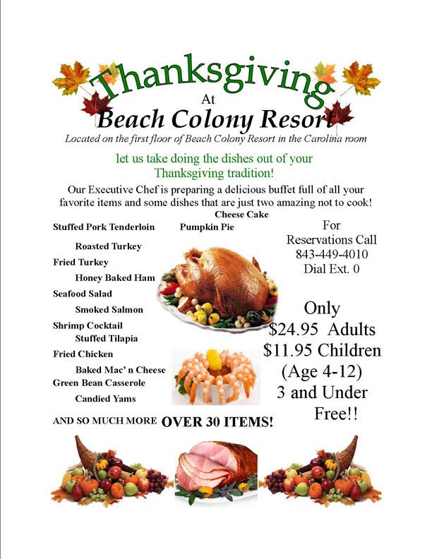 Beach Colony Resort Thanksgiving