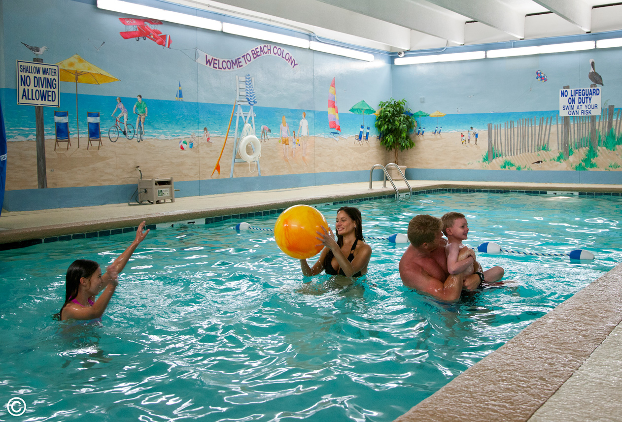 Indoor Pool at Beach Colony Resort