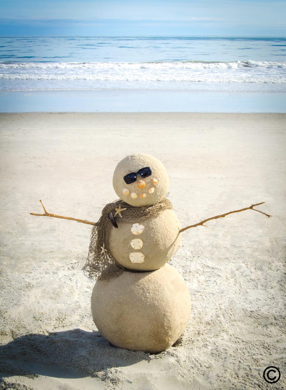 Sand Snowman in Myrtle Beach!