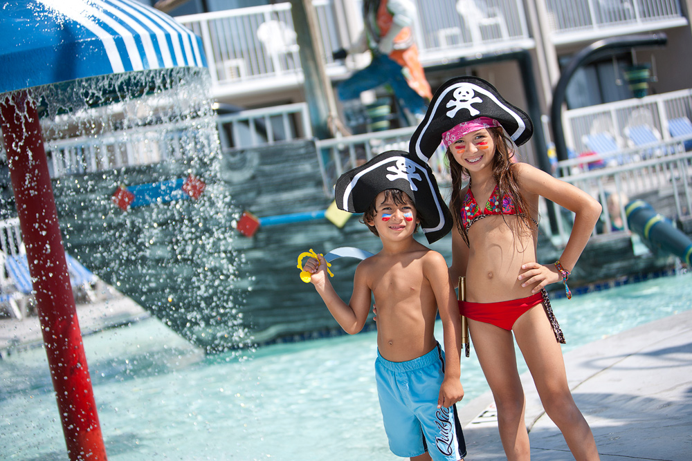 Shipwreck Lagoon Kids' Waterpark at Captain's Quarters Resort in Myrtle Beach.