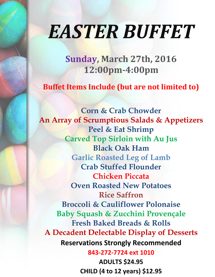 Easter Buffet at Ocean Creek Resort