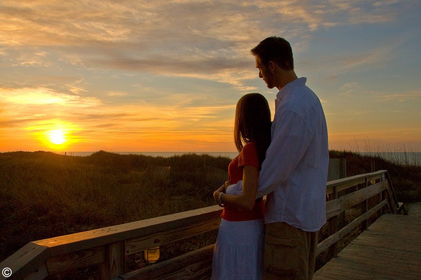 Ocean Creek Resort Romantic Sunset for Valentine's Weekend