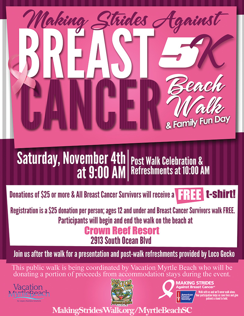 Making Strides 5K Beach Walk in Myrtle Beach, SC