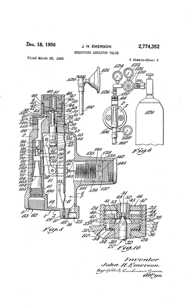 Intermittent Positive Pressure Breathing 1960 Lincoln Wiring Diagram 1952 Emersons Assistor Valve