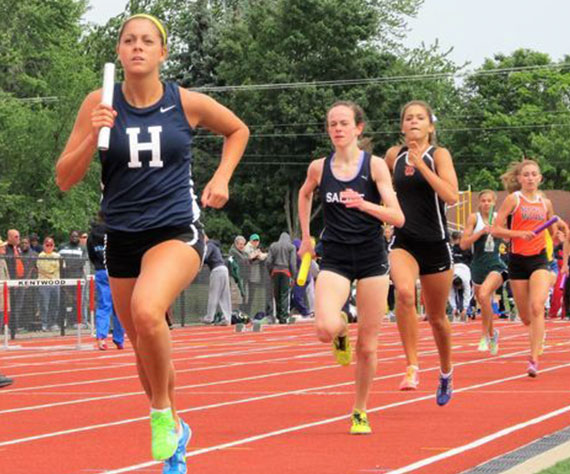 Hartland's (MI) Avery Evenson ranked No. 1 female athlete in KLAA West history