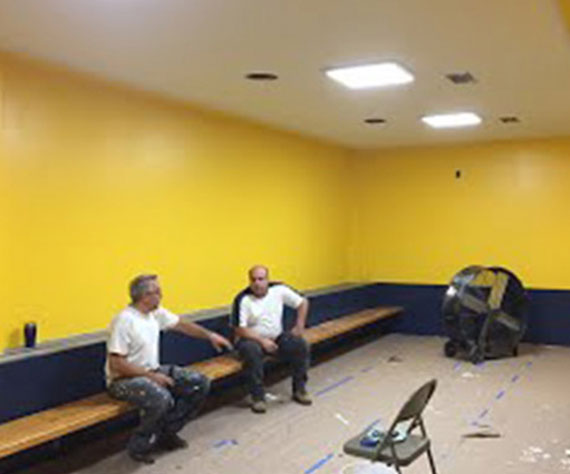 Cabrini Monarch (MI) Coaches, Parents, and Athletes create new hockey locker room