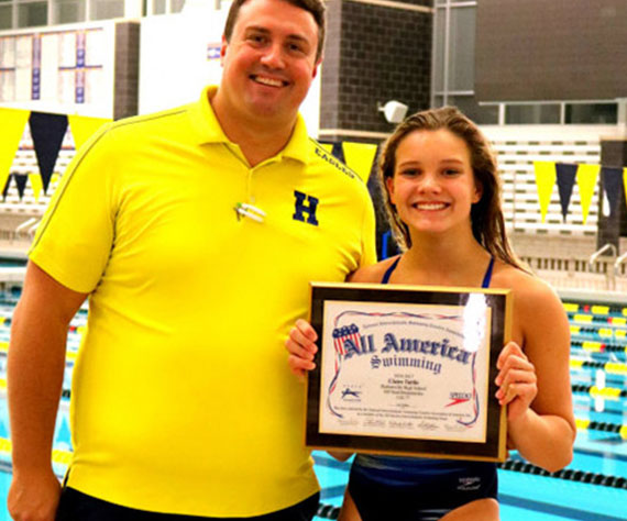 Hudsonville (MI) swimmer continues to break records